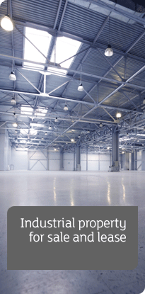 Industrial Commercial Properties banner - warehouse interior